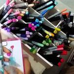 pintar con rotuladores copic
