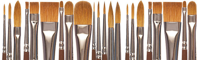 Tipos de pincel para acrílico