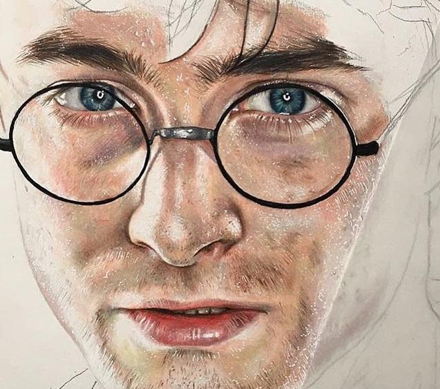 Dibujo Hiperrealista Harry Potter