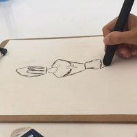 dibujar con carboncillo