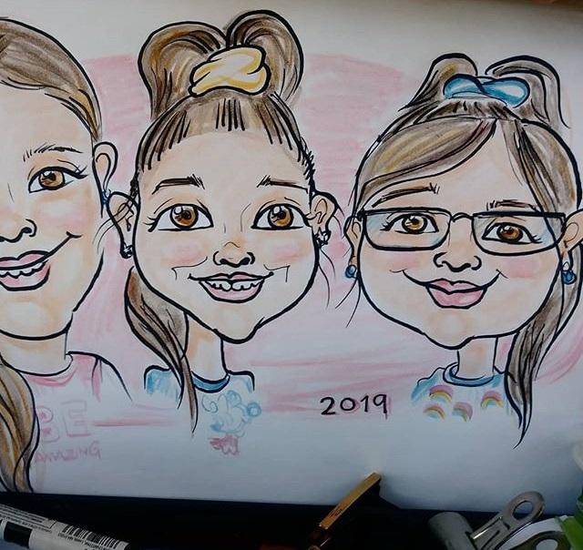 tres caricaturas