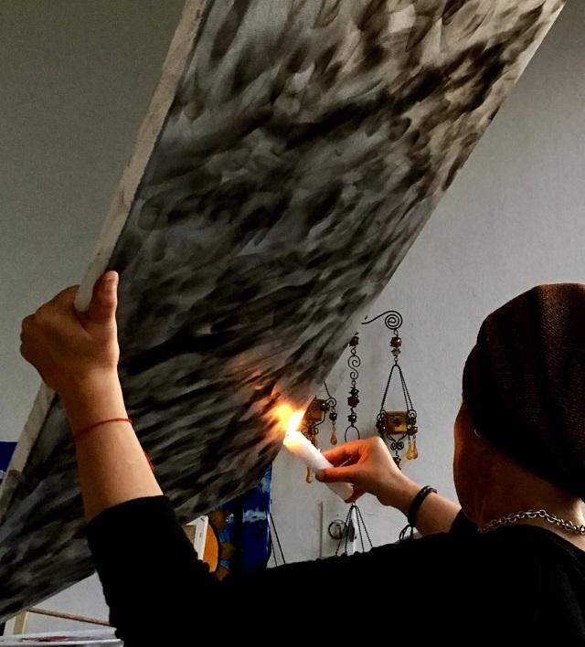 dibujar con fuego
