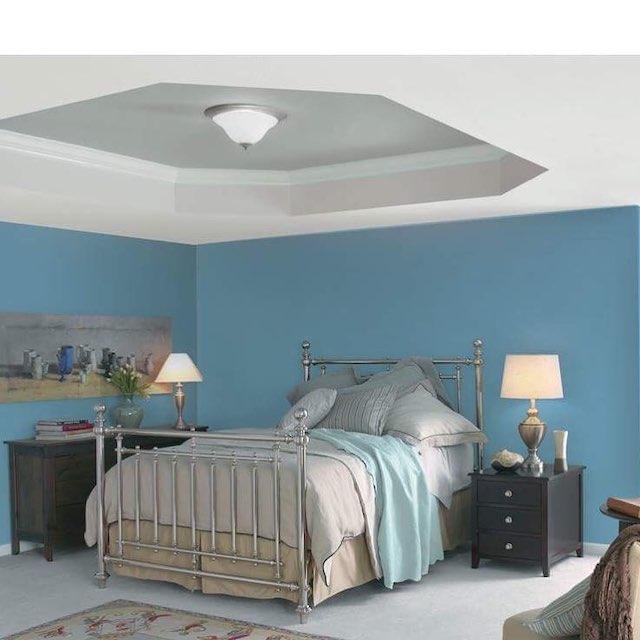 color azul en interiores