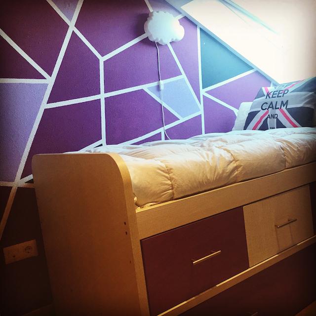 interior de color morado