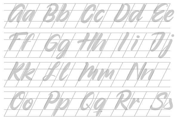ejercicios diferentes para lettering