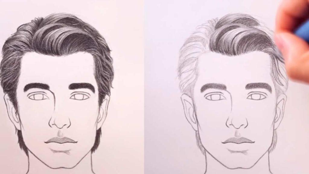 dibujar cabello paso a paso